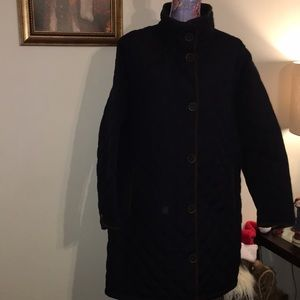 Lands' End Light Weight Navy Blue Trench Coat 2X